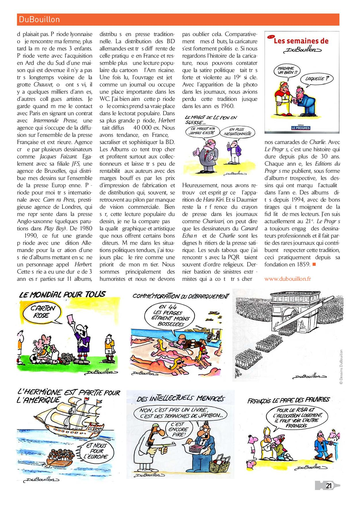 Interview  France Cartoons